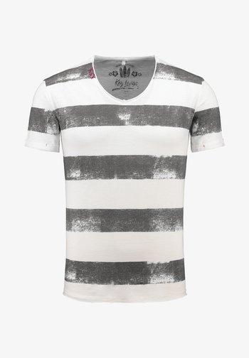 MT AIRFLIGHT - Print T-shirt - offwhite-silver