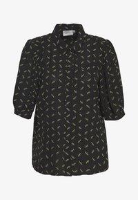 Gestuz - BELINAGZ SHIRT - Button-down blouse - black - 4