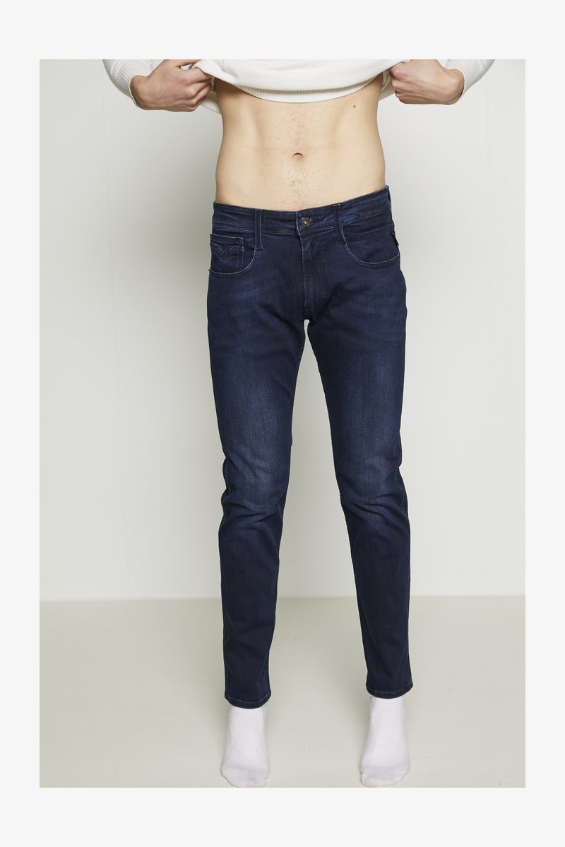 Replay ANBASS - Jeans Slim Fit - dark blue/dark-blue denim VORd80