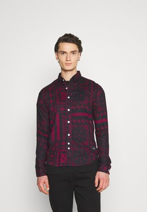 PAISLEY OVERSHIRT - Shirt - black/bordeaux