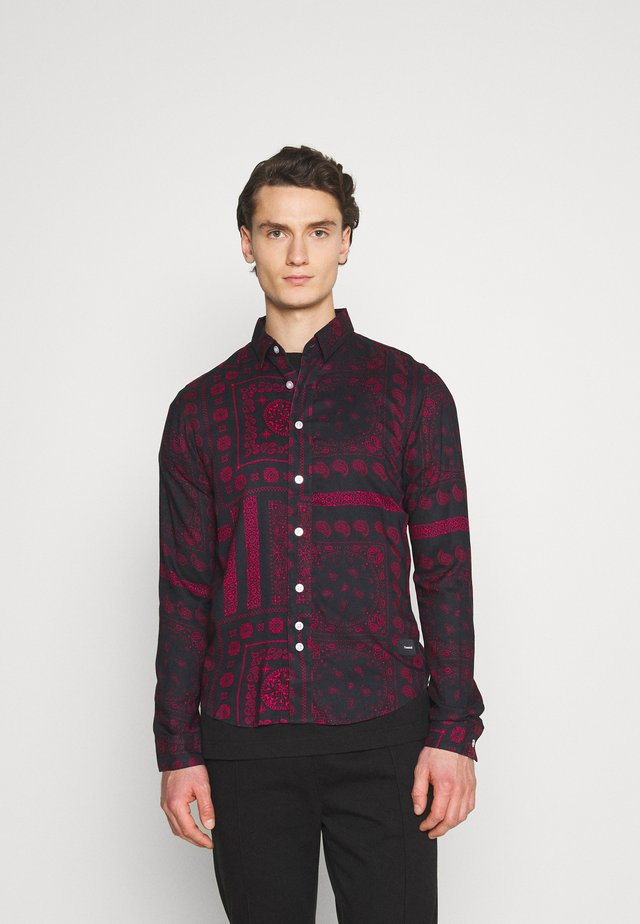 PAISLEY OVERSHIRT - Skjorta - black/bordeaux