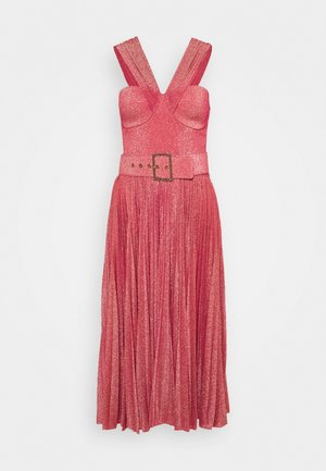 WOMEN'S DRESS WITH BELT - Robe de soirée - amaranto