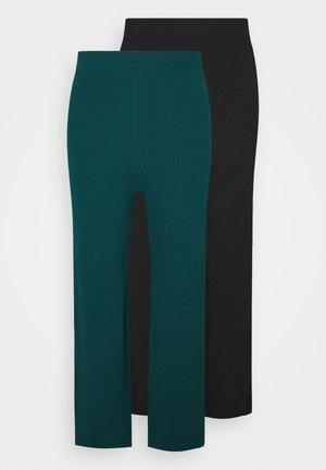 2 PACK - Bukse - black/dark green