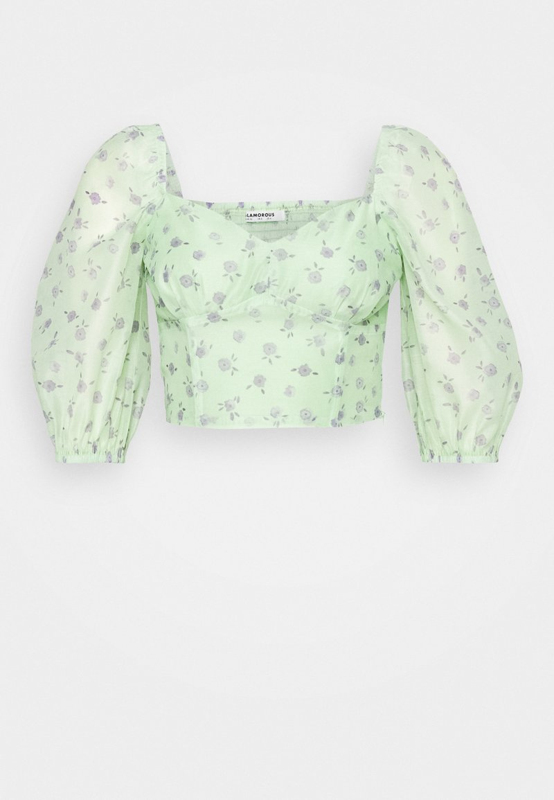 Glamorous - CROPPED BUST DETAIL TOP - Blouse - green