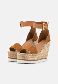 See by Chloé - GLYN HIGH - Korolliset sandaalit - light pastel brown - 2