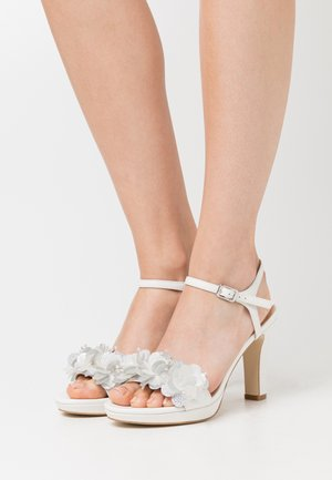 LEATHER - Sandaletter - white