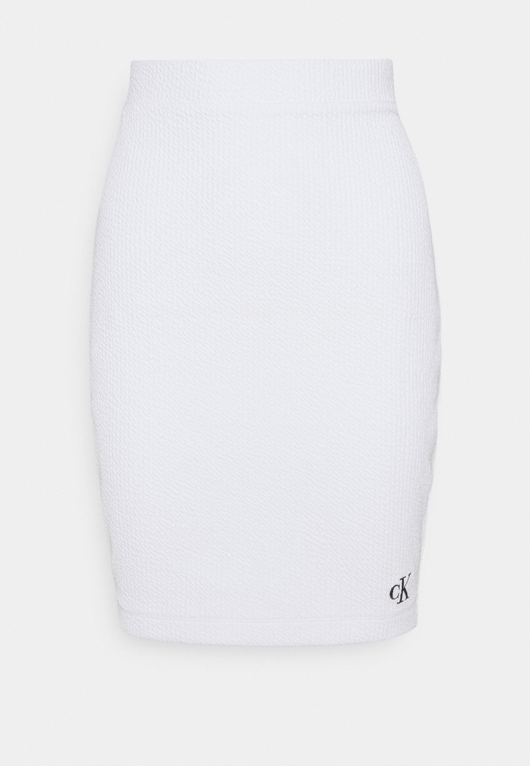 Femme SLUB MINI SKIRT - Jupe crayon