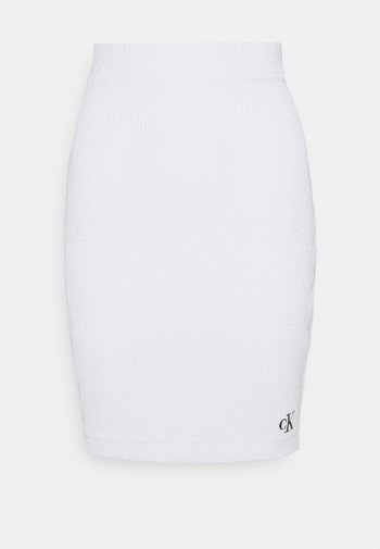SLUB MINI SKIRT