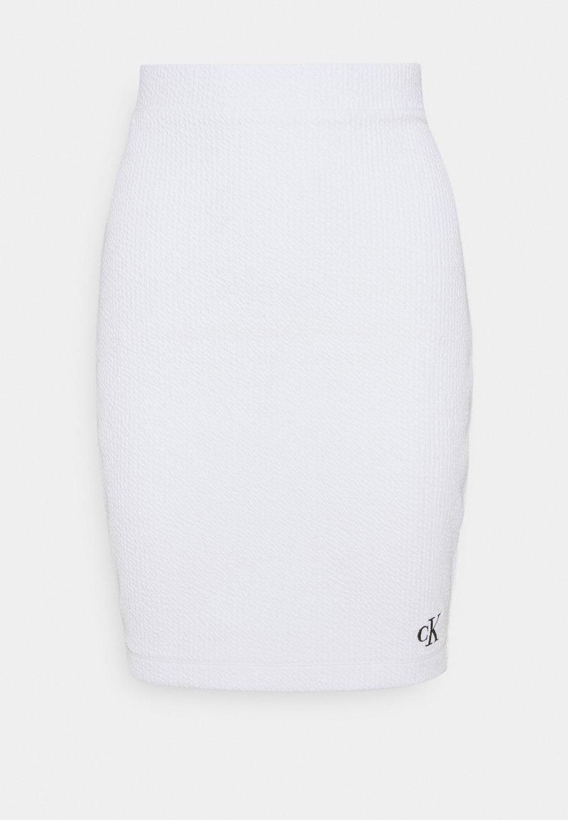 Calvin Klein Jeans - SLUB MINI SKIRT - Bleistiftrock - bright white