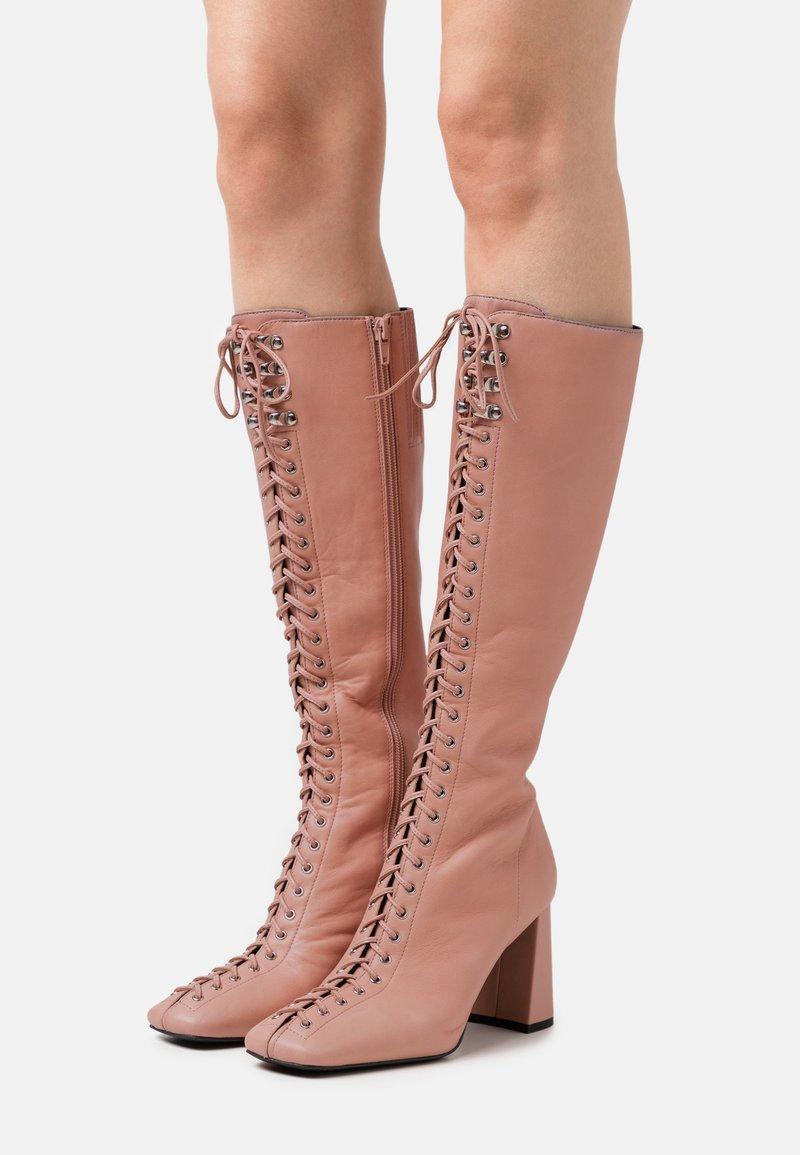 Jeffrey Campbell - PATTI - Lace-up boots - deep pink