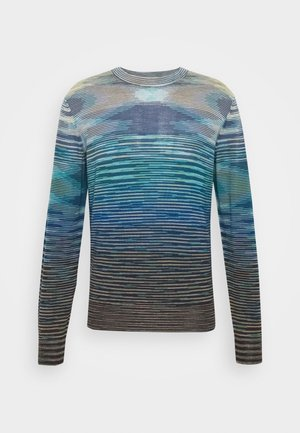 LONG SLEEVE CREW NECK - Maglione - multi-coloured/mottled dark brown