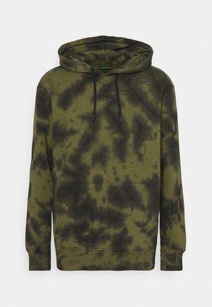 TIE DYE HOODY UNISEX - Sweatshirt - khaki