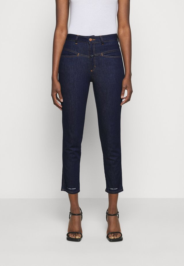 PEDAL PUSHER - Jeans baggy - dark blue