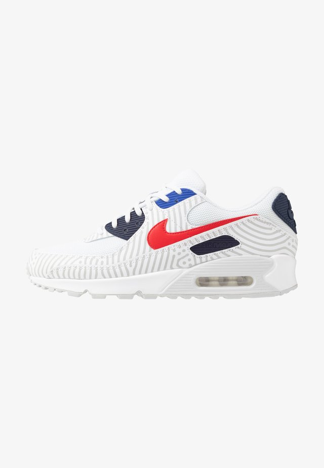 NIKE AIR MAX 90 - Sneaker low - white/university red/midnight navy/blue/pure platinum/metallic silver