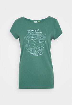 Print T-shirt - dusty green