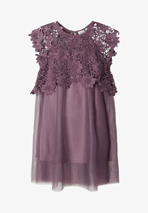 KLEID BLUMENSPITZEN - Day dress - black plum