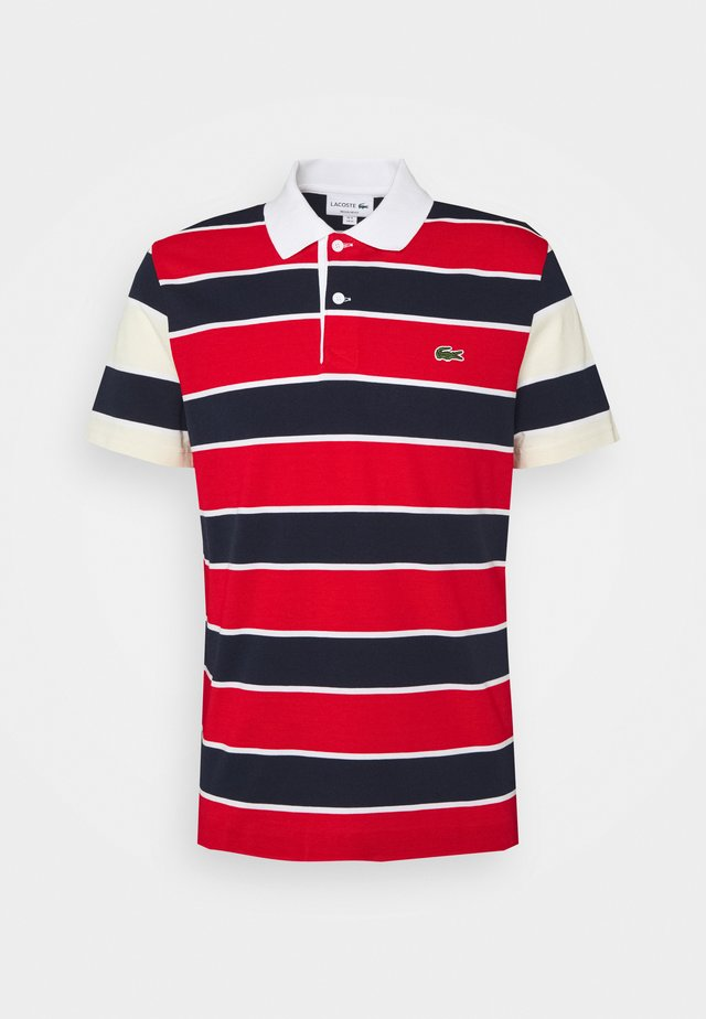 Polo shirt - rouge/marine naturel/clair blanc