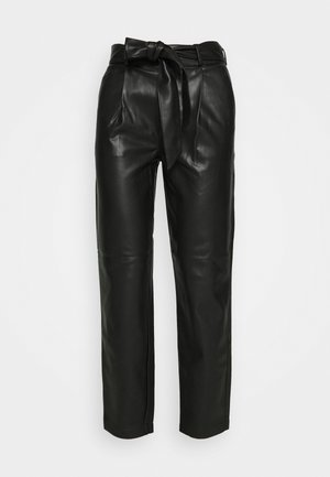BELTED TROUSER - Trousers - black