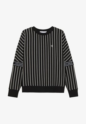 STRIPE LOGO TAPE - Felpa - black