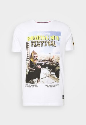CONCERT - Print T-shirt - optic white