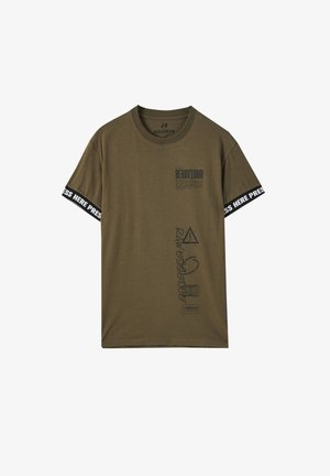 T-shirt med print - dark green