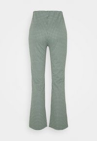 Monki - VIVA TROUSERS SCALE - Bukser - green dusty light palma - 1