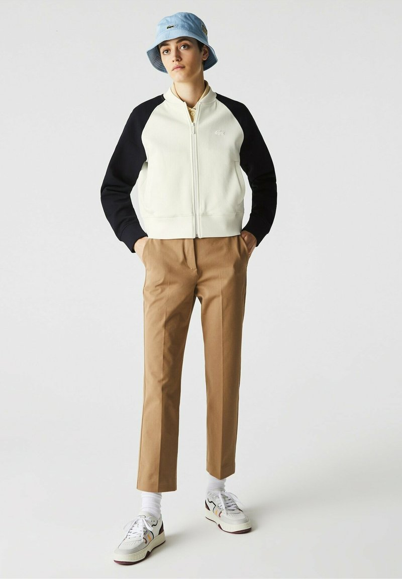 Lacoste - Zip-up sweatshirt - blanc/bleu marine