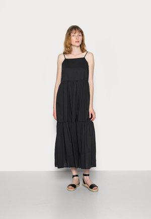 DRESS STRAPS TIRED - Vapaa-ajan mekko - black