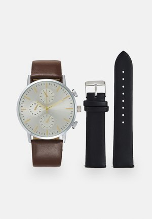 SET - Reloj - black/dark brown