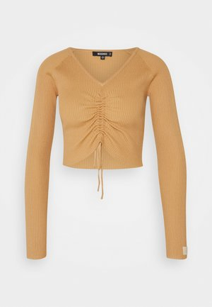LOUNGE ROUCH FRONT - Jumper - camel