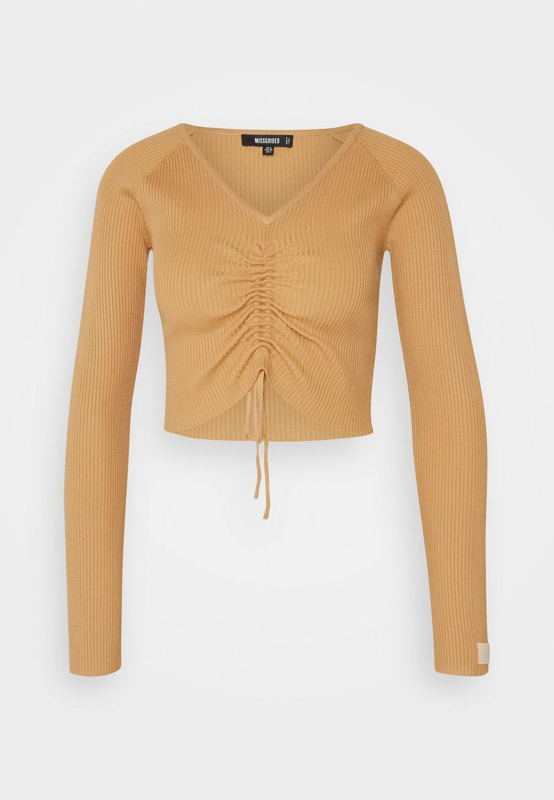 Missguided - LOUNGE ROUCH FRONT - Jumper - camel