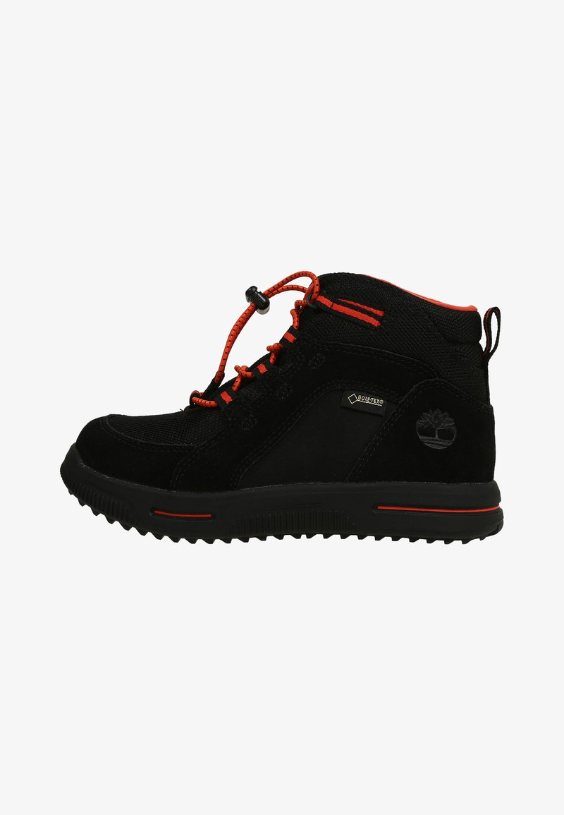 Timberland - CITY STOMP BUNGEE MID GTX - Lace-up ankle boots - jet black