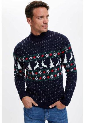CHRISTMAS  - Stickad tröja - navy