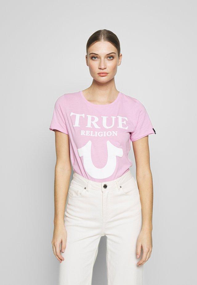 CREW LOGO PUFFY - T-shirt con stampa - gelato