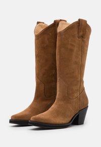 Selected Femme - SLFLOUISE  - Cowboy/Biker boots - cognac - 2