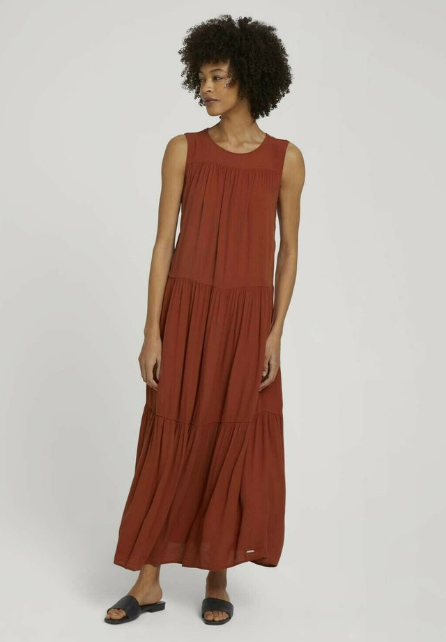 Długa sukienka - rooibos orange