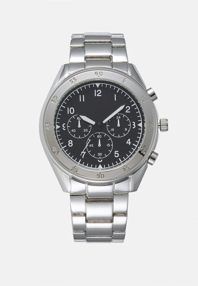 Topman - CHUNKY LINK WATCH - Watch - silver-coloured