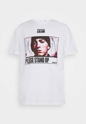TOUR TEE UNISEX - Print T-shirt - white