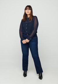 Zizzi - Button-down blouse - dark blue - 1