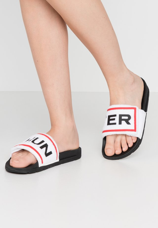 WOMENS ORIGINAL LOGO SLIDE - Pantofle - white/black