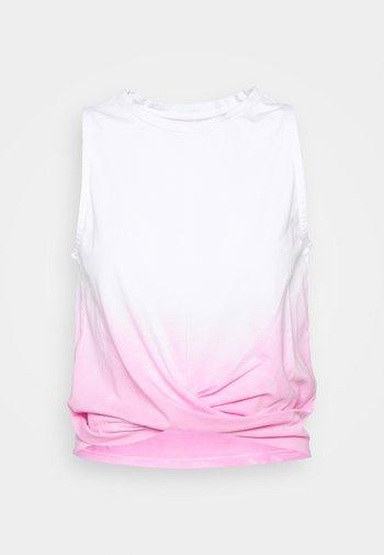 CROPPED TOP DIP DYE - Top - neon pink