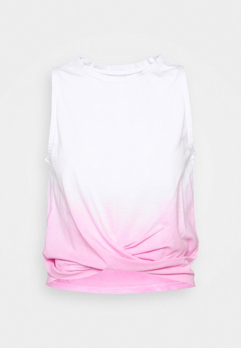 Hey Honey - CROPPED TOP DIP DYE - Top - neon pink
