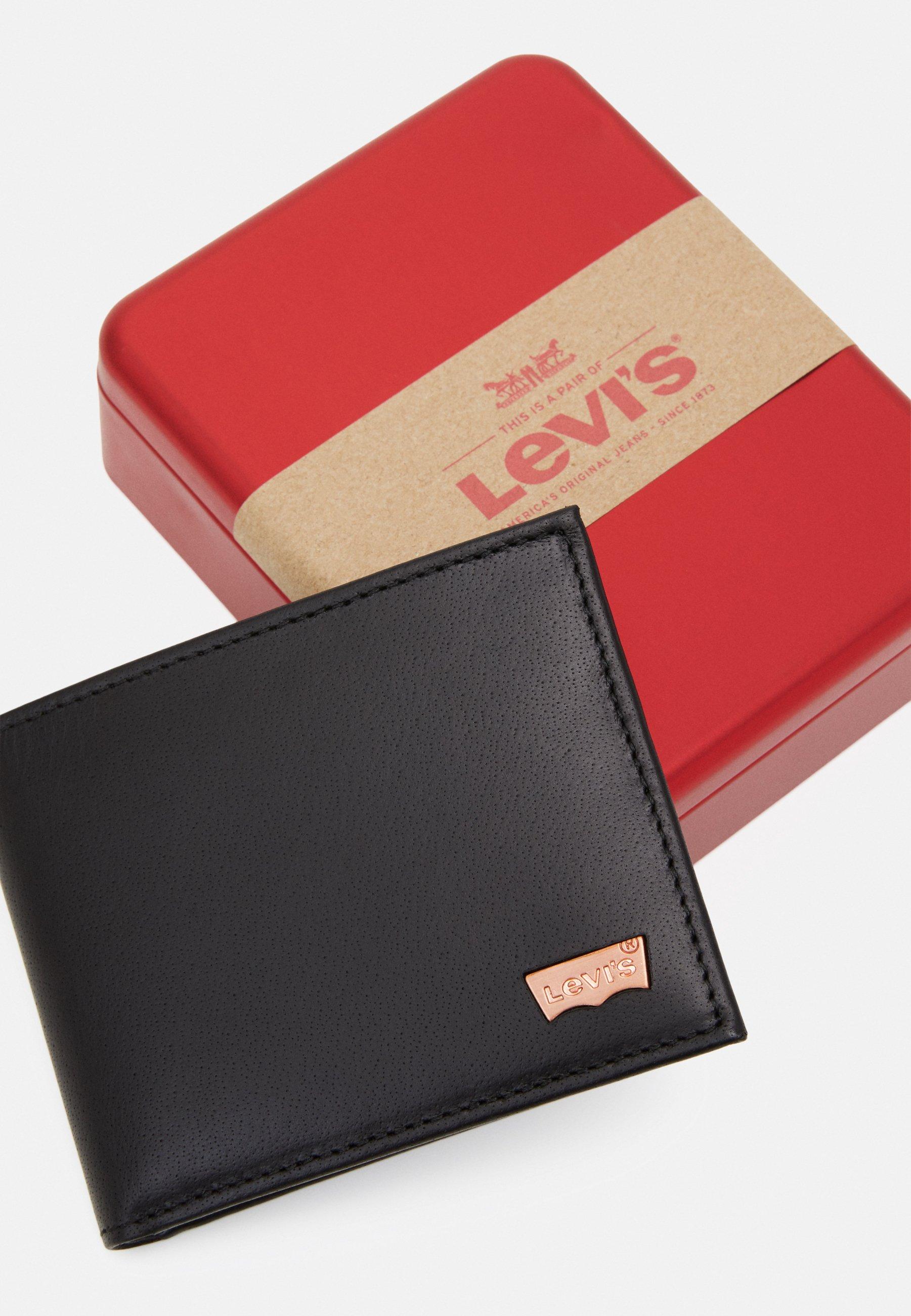 Levis® HUNTE BIFOLD BATWING - Geldbörse - regular black/schwarz - Herrentaschen wzJg7