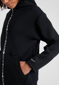 Nike Performance - HOODY - Zip-up hoodie - black/metallic silver - 3