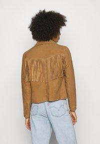 Oakwood - JANIS - Leather jacket - tan - 2