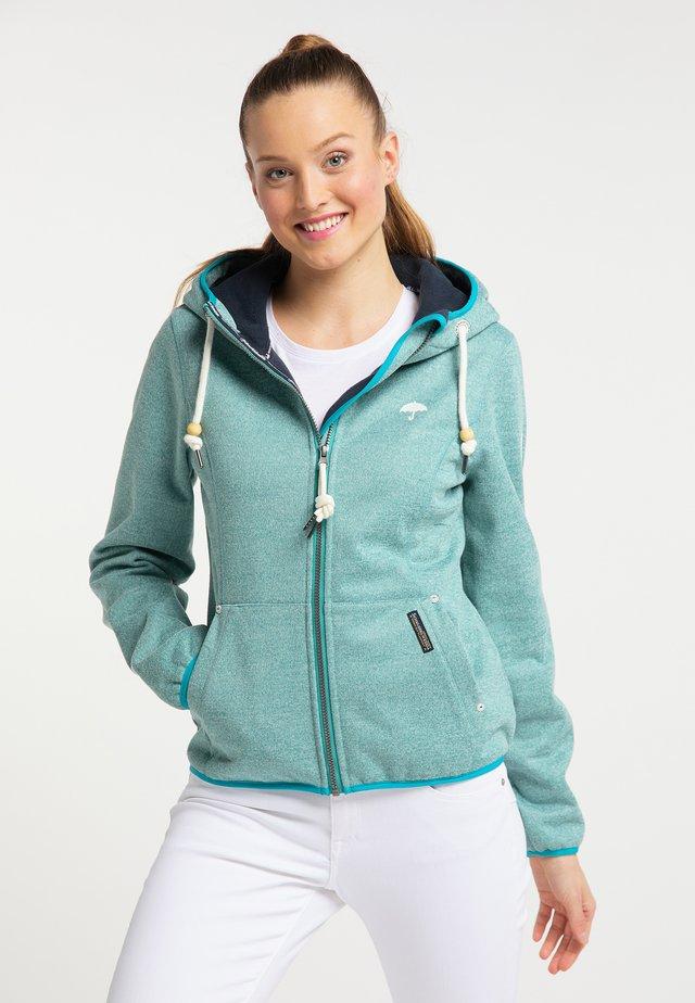 Outdoor jakke - turquoise melange