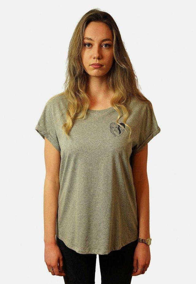 WTSRU - T-shirt print - mottled grey