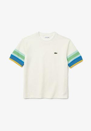 T-shirt print - weiß / gelb / blau / türkis / grün