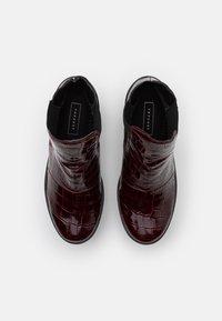 Topshop - BRIA CHELSEA UNIT - Kotníková obuv na vysokém podpatku - burgundy - 5