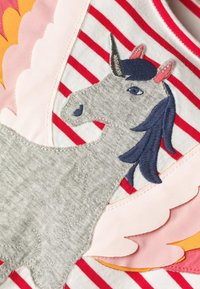 Boden - MIT FLATTERÄRMELN UND APPLIKATION - Jersey dress - naturweiß/rockabilly-rot, einhorn - 2